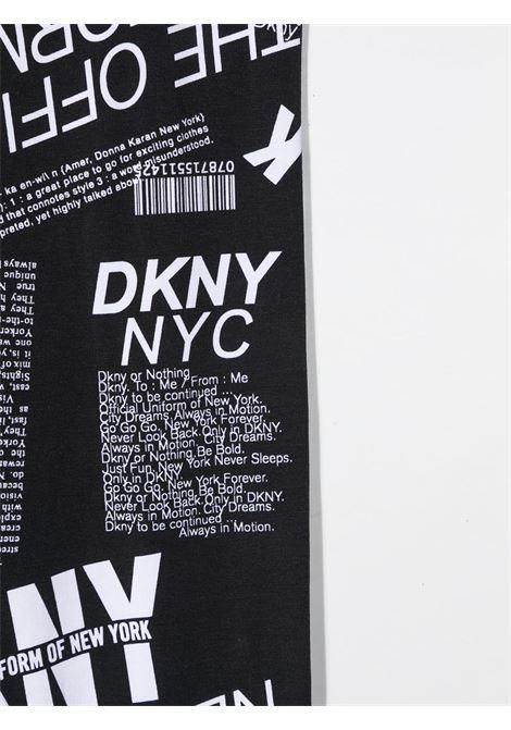 dkny leggins stampati con scritta logo DKNY | Leggins | D34A12M41