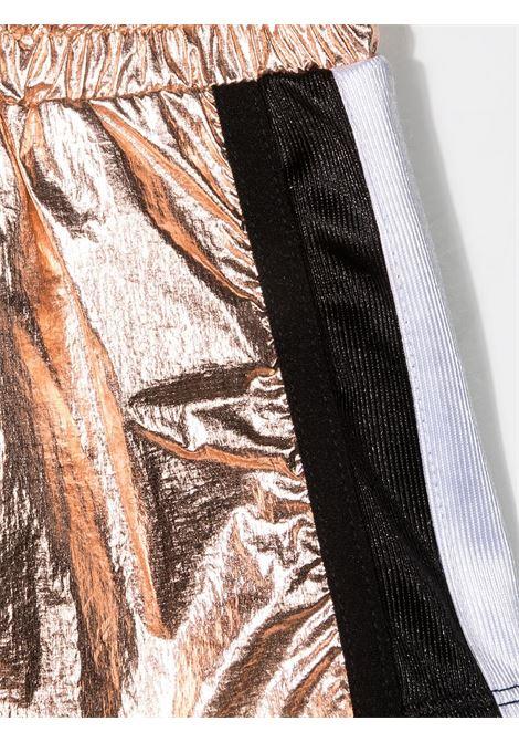 dkny shorts in tessuto laminato con bande laterali a contrasto DKNY | Shorts | D34A19Z95
