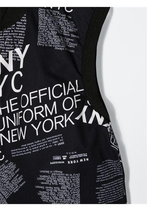 dkny tuta short in tessuto stampato e logato DKNY | Tuta | D34A21M41T