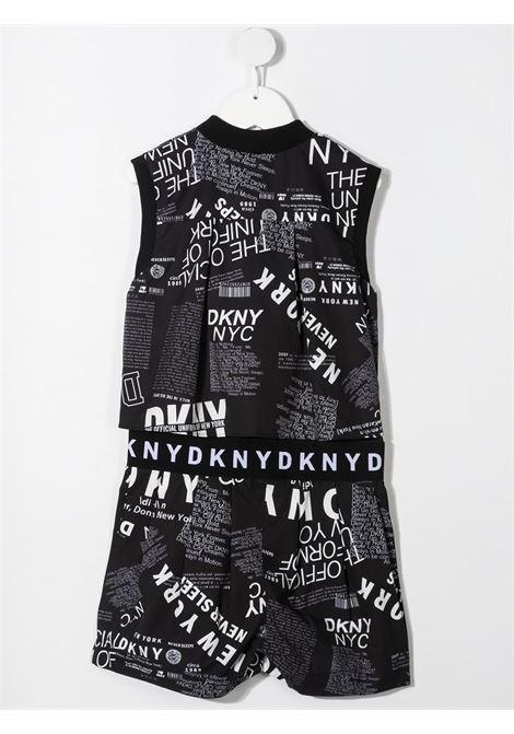 dkny tuta short in tessuto stampato e logato DKNY | Tuta | D34A21M41