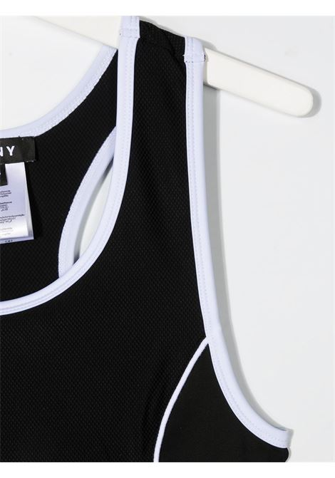 dkny top con con profili a contrasto e stampa logo DKNY | Top | D35R1909BT