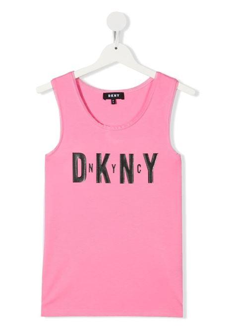 dkny canotta con stampa scritta logo DKNY | Canotta | D35R2144GT