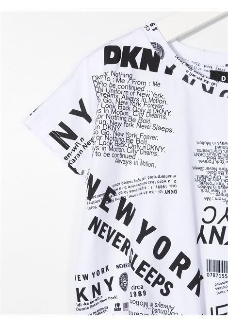dkny tshirt con nodo tessuto stampato e con scritta logo DKNY   Tshirt   D35R30N50