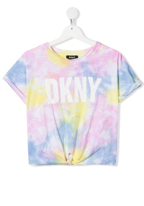 dkny tshirt effetto sfumato stampa scritta logo DKNY | Tshirt | D35R34Z40T