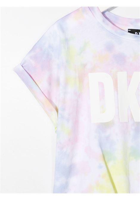 dkny tshirt effetto sfumato stampa scritta logo DKNY | Tshirt | D35R34Z40