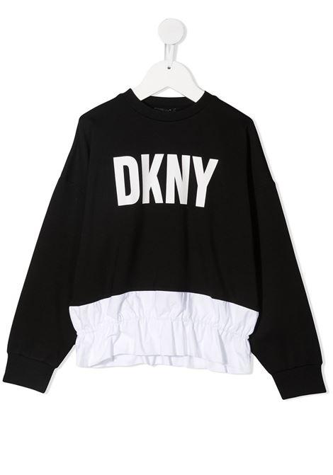 dkny felpa con  stampa scritta logo DKNY | Felpa | D35R3709B