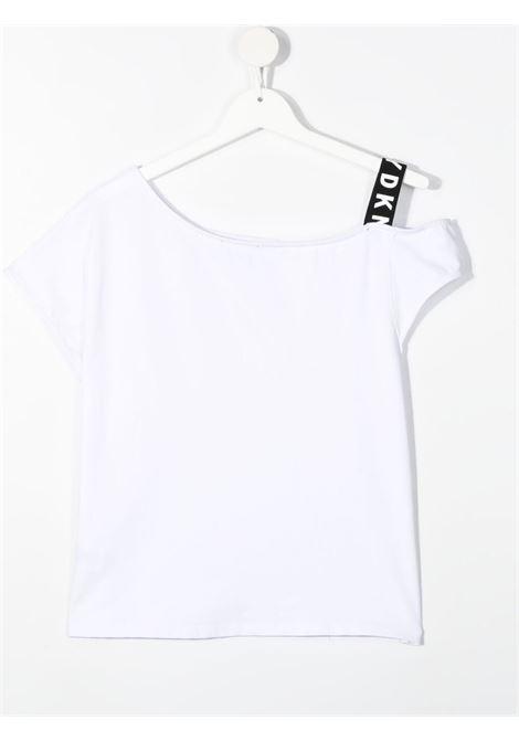 dkny tshirt con monospalla e con  stampa scritta logo DKNY | Tshirt | D35R4410BT