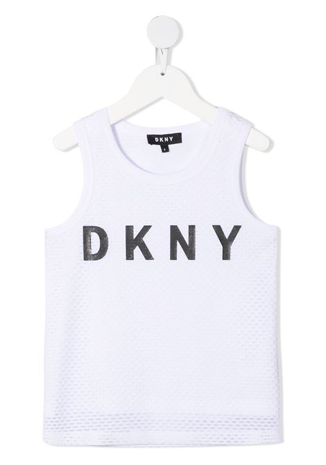 dkny canotta con  stampa scritta logo DKNY | Canotta | D35R4910B
