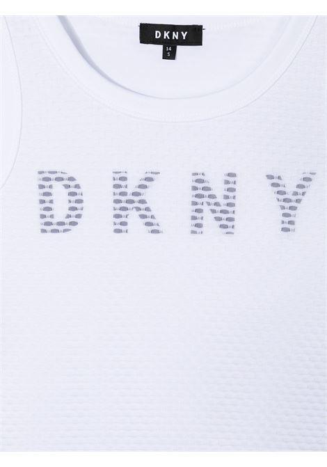 dkny canotta con  stampa scritta logo DKNY | Canotta | D35R4910BT
