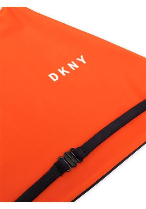 dkny costume due pezzi con profili e stampa scritta logo DKNY | Costume | D37105982T