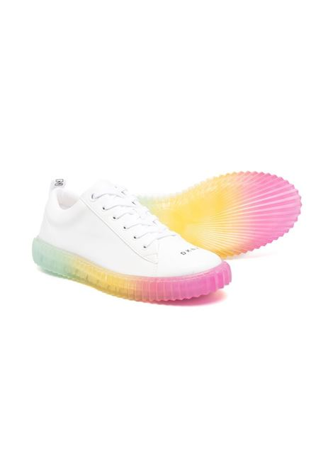 dkny sneakers con fondo trasparente e con scritta logo DKNY | Sneakers | D3904210BT