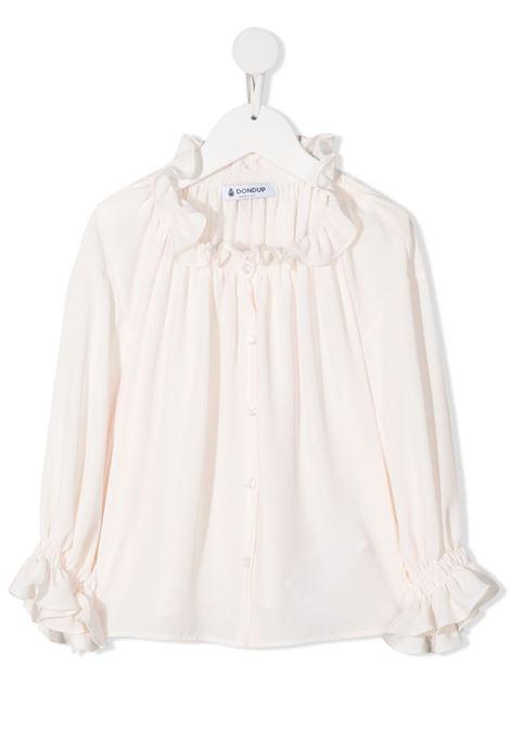 dondup kids polo camicia con arricci DONDUP | Camicia | DFCA61GA88WDUNI10002