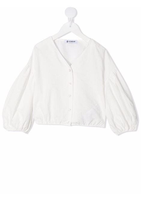 dondup kids blusa manica larga con arriccio al fondo DONDUP | Blusa | DFCA68CR221WD0280012