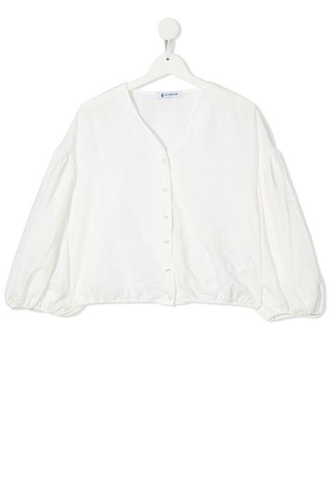dondup kids blusa manica larga con arriccio al fondo DONDUP | Blusa | DFCA68CR221WD0280012T