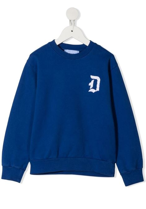 dondup kids felpa con scritta logo ricamata DONDUP | Felpa | DMFE52FE144WD0234026