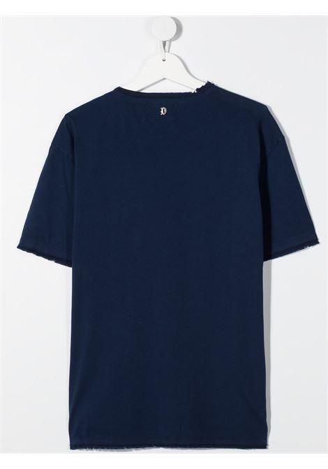 dondup kids tshirt con bottoni e taschino davanti DONDUP | Tshirt | DMTS48JE138WD0044004T