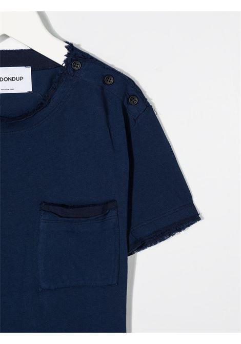 dondup kids tshirt con bottoni e taschino davanti DONDUP | Tshirt | DMTS48JE138WD0044004