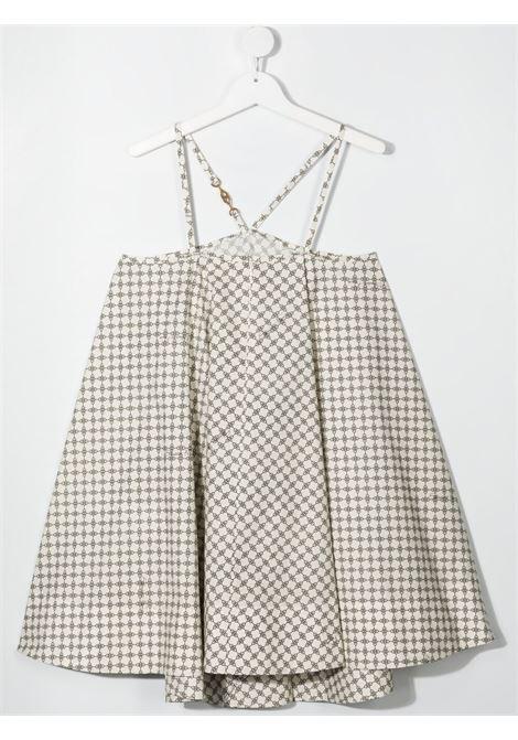 elisabbetta francchi abito bretelle con morsetto stampa allover ELISABETTA FRANCHI | Abito | EFAB353CF495WE033D022T