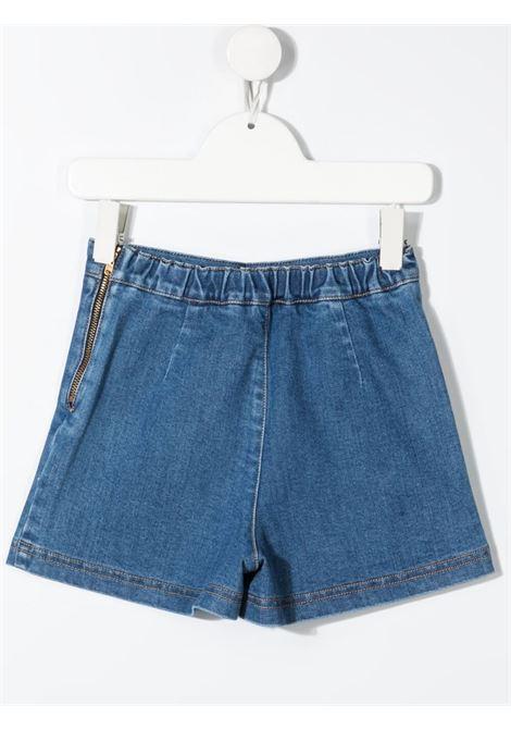 elisabbetta franchi shorts in denim con morsetti logati in vita ELISABETTA FRANCHI | Shorts | EFBE30DE98WEUNI14001