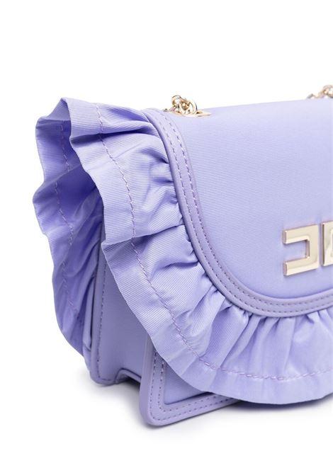 elisabbetta franchi borsa con rouches e placca logo ELISABETTA FRANCHI | Borsa | EFBO47NY230WE0258018