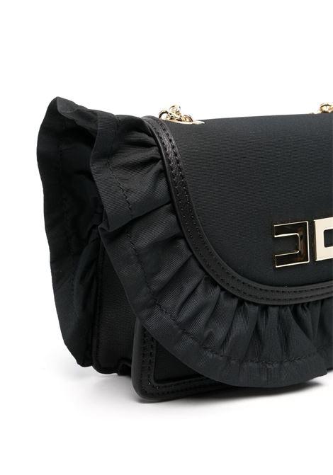 elisabbetta franchi borsa con rouches e placca logo ELISABETTA FRANCHI | Borsa | EFBO47NY230WE025N015