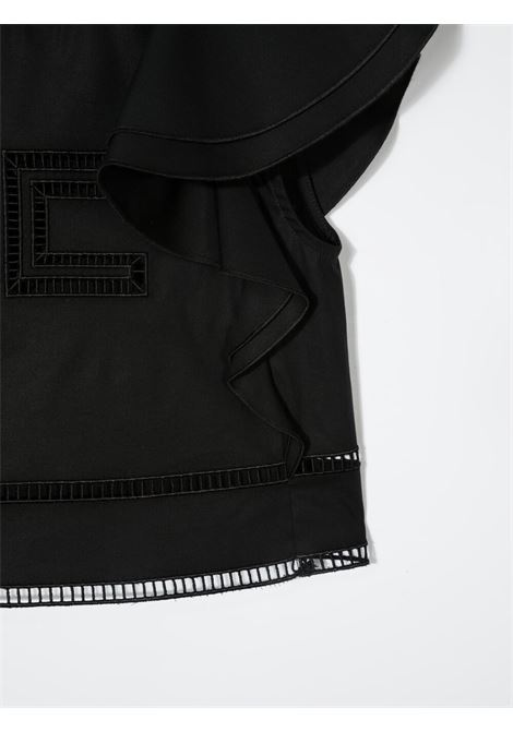 elisabbetta franchi camicia con manica volant con ricamo logo ELISABETTA FRANCHI | Camicia | EFCA116CE201WE025N015