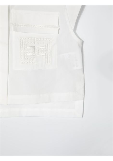elisabbetta franchi blusa con pattine ricamate ELISABETTA FRANCHI | Camicia | EFCA129CE201WE0250022