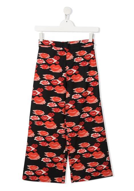 elisabbetta franchi pantalone con stampa all over bocche ELISABETTA FRANCHI | Pantalone | EFPA114CA253WE024D013T