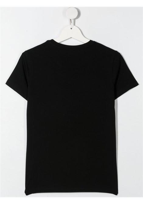 elisabbetta franchi tshirt con ricamo e stampa bocche con pailettes ELISABETTA FRANCHI | Tshirt | EFTS138JE95WE037N020T