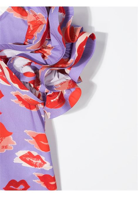 elisabbetta franchi abito stampa bocche ELISABETTA FRANCHI | Abito | EGAB68CA253WE024D012