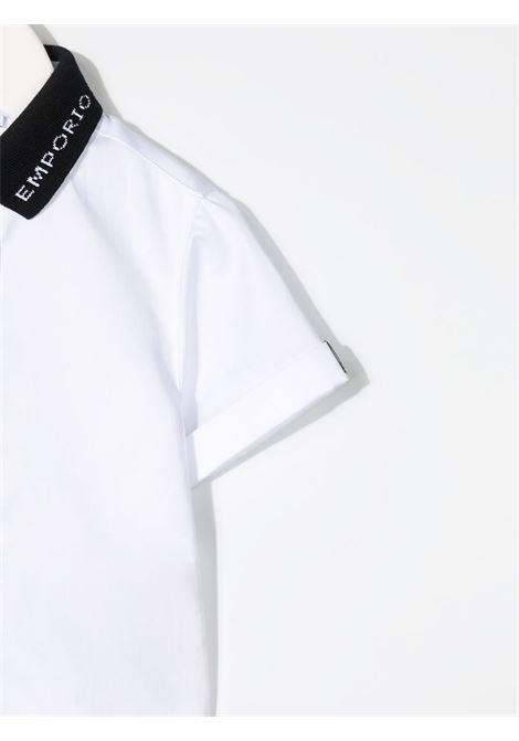 emporio armani camicia manica corta con collo polo logato EMPORIO ARMANI KIDS | Camicia | 3KHC081NXRZ0100