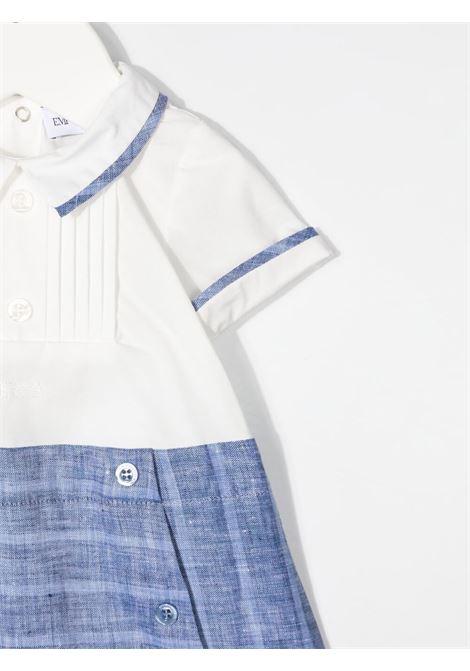 emporio armani pagliaccetto in jersey con inserto in lino EMPORIO ARMANI KIDS | Pagliaccetto | 3KHV734N50ZF908