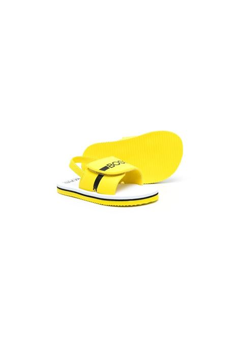 hugo boss sandali con velcro stampa logo HUGO BOSS | Sandalo | J09143553