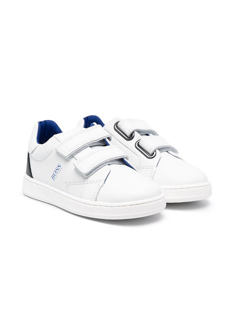 hugo boss sneakers con velcro stampa logo HUGO BOSS | Sneakers | J09146871