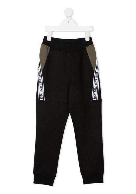 hugo boss pantaloni in felpa con logo HUGO BOSS | Pantalone | J2471409B