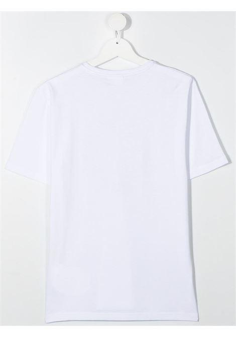 hugo boss tshirt con stampa scritta logo gold HUGO BOSS | Tshirt | J25G9310BT
