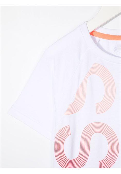 hugo boss tshirt con stampa scritta logo HUGO BOSS | Tshirt | J25L0710B
