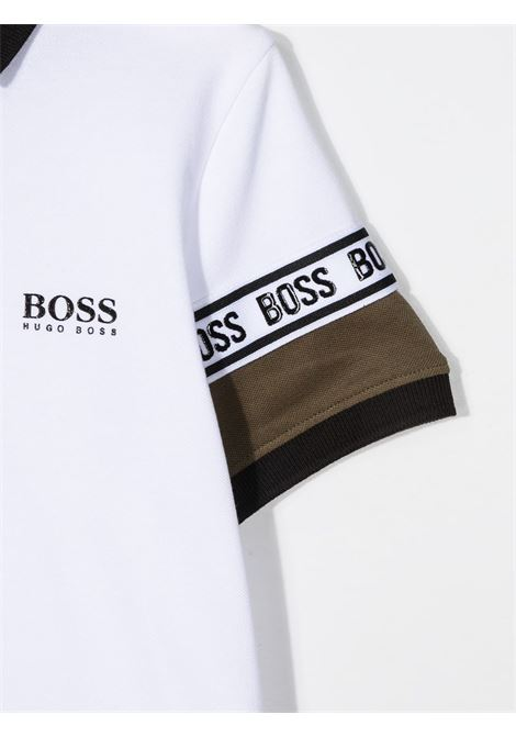 hugo boss polo con collo e manica a contrasto e con logo HUGO BOSS | Polo | J25L2310B