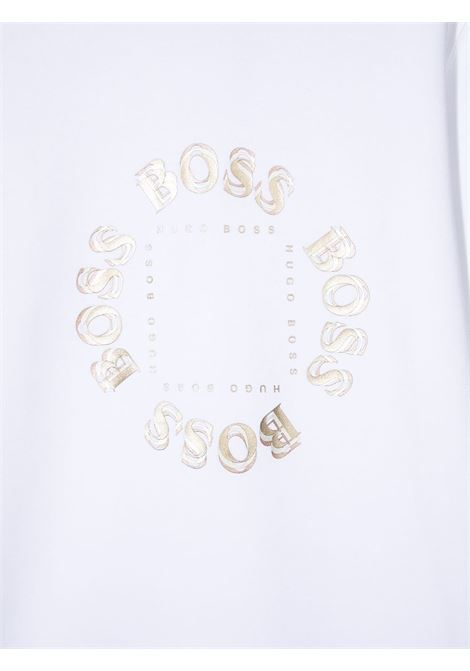 hugo boss felpa triple gold con stampa logo in oro HUGO BOSS | Felpa | J25L3910BT
