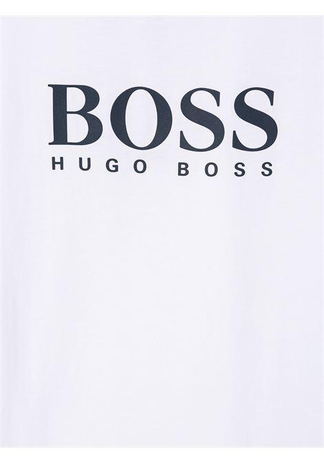 hugo boss tshirt con stampa scritta logo HUGO BOSS | Tshirt | J25P1310BT
