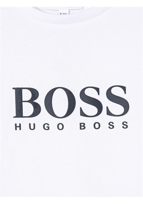 hugo boss tshirt con stampa scritta logo HUGO BOSS | Tshirt | J25P1310B