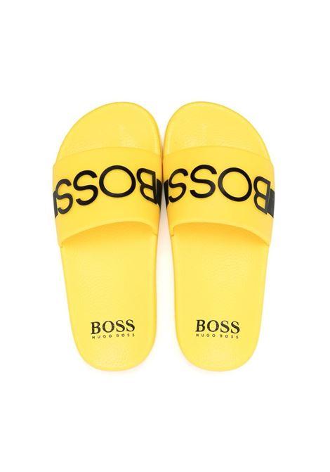 hugo boss ciabatta con stampa scritta logo HUGO BOSS | Ciabatta | J29246553