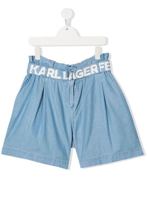 shorts con cintura scritta logo karl lagerfild kids KARL LAGERFELD KIDS | Shorts | Z14144Z04T