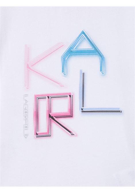 tshirt con scritta logo karl lagerfild kids KARL LAGERFELD KIDS | Tshirt | Z1529310B