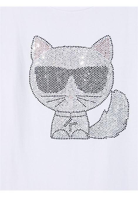 tshirt con stampa logo gatto karl lagerfild kids KARL LAGERFELD KIDS | Tshirt | Z1530010B