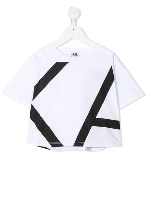 tshirt con stampa logo karl lagerfild kids KARL LAGERFELD KIDS | Tshirt | Z1530410B