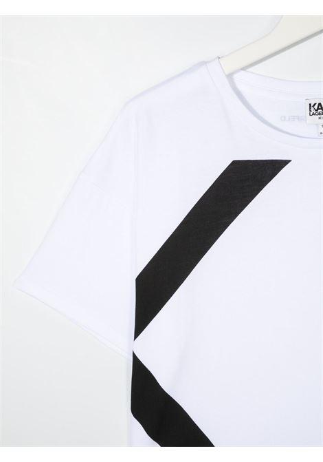 tshirt con stampa logo karl lagerfild kids KARL LAGERFELD KIDS | Tshirt | Z1530410BT