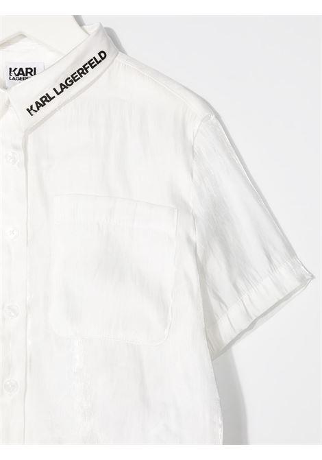 camicia con scritta logo karl lagerfild kids KARL LAGERFELD KIDS | Camicia | Z1530710B