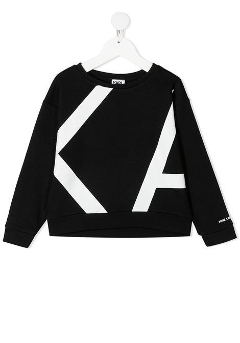 felpa con stampa logo karl lagerfild kids KARL LAGERFELD KIDS | Felpa | Z1531109B