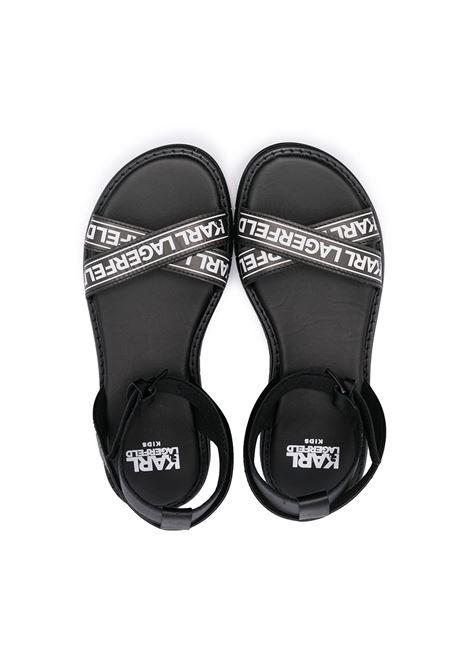 sandalo con scritta logo karl lagerfild kids KARL LAGERFELD KIDS | Sandalo | Z1905209B